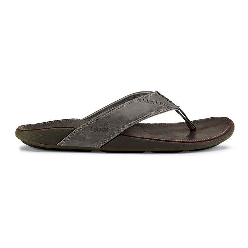 Mens OluKai Nui Sandals Shoe - Seal Brown 7