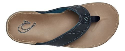 Mens OluKai Nui Sandals Shoe - Trench Blue/Clay 13