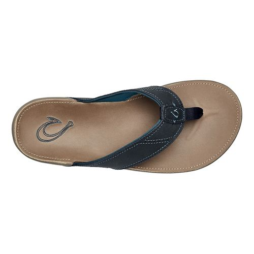 Mens OluKai Nui Sandals Shoe - Trench Blue/Clay 10