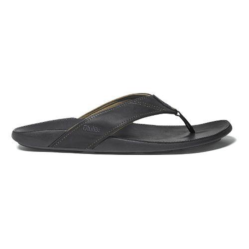 Mens OluKai Nui Sandals Shoe - Black/Black 7
