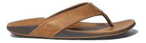 Mens OluKai Nui Sandals Shoe - Tan/Tan 15