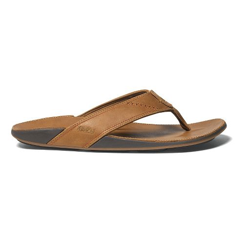 Mens OluKai Nui Sandals Shoe - Tan/Tan 14