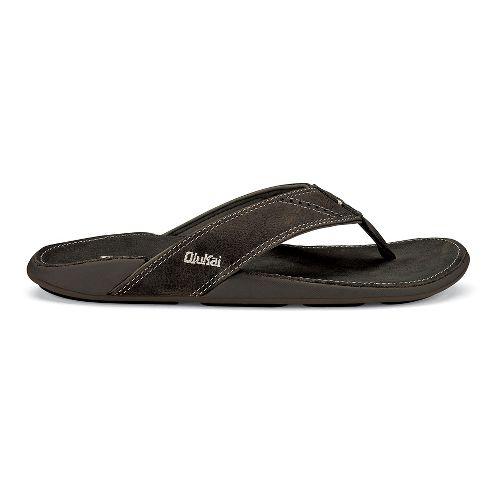 Mens OluKai Nui Sandals Shoe - Shadow/Shadow 10
