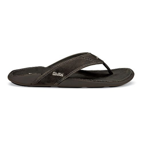 Mens OluKai Nui Sandals Shoe - Shadow/Shadow 9