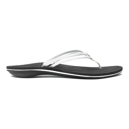 Womens OluKai Unahi Sandals Shoe - White/Black 5