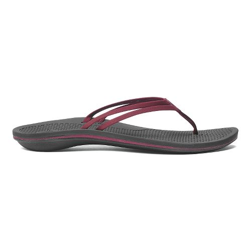 Womens OluKai Unahi Sandals Shoe - Beet Red/Black 10