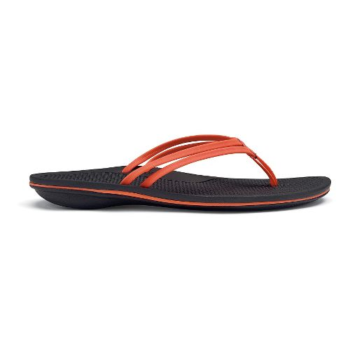 Womens OluKai Unahi Sandals Shoe - Coral/Black 10
