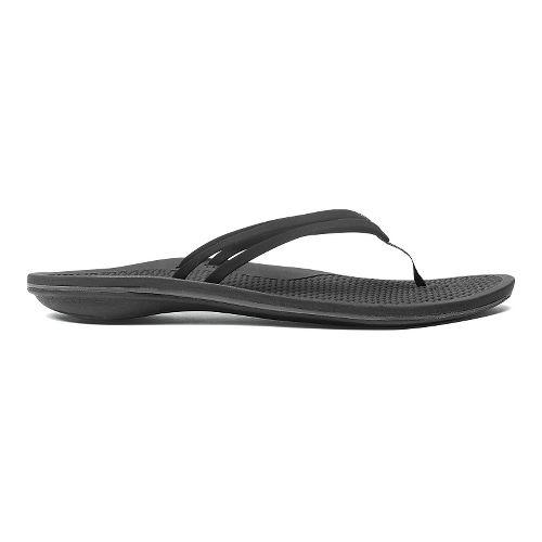 Womens OluKai Unahi Sandals Shoe - Black/Black 9
