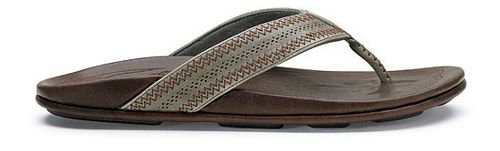 Mens OluKai Po'okela Sandals Shoe - Charcoal/Dark Java 8