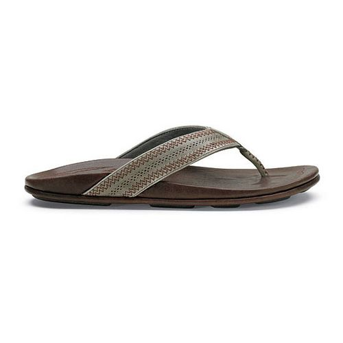 Mens OluKai Po'okela Sandals Shoe - Charcoal/Dark Java 15