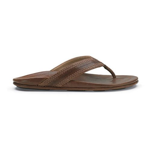 Mens OluKai Po'okela Sandals Shoe - Dark Java/Dark Java 10