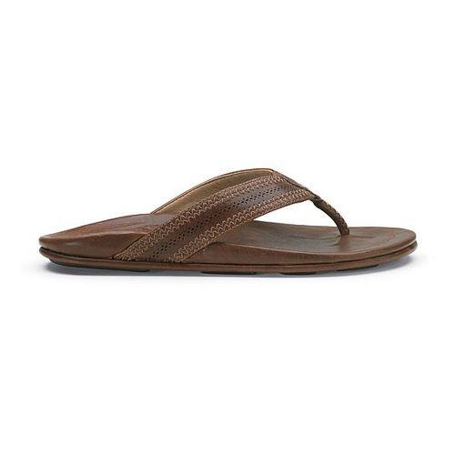 Mens OluKai Po'okela Sandals Shoe - Dark Java/Dark Java 14