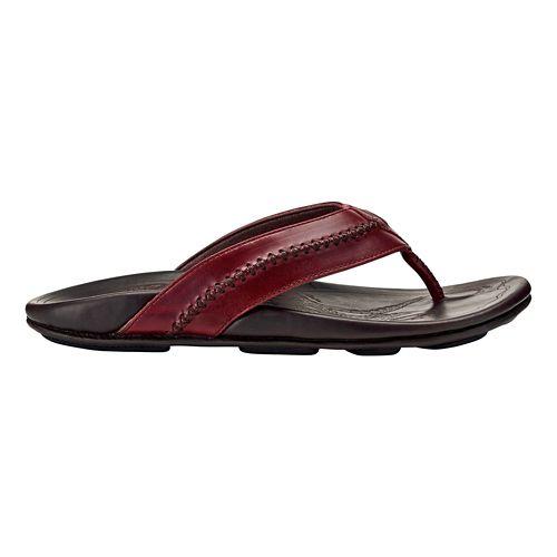 Mens OluKai Mea Ola Sandals Shoe - Terra/Dark Wood 14