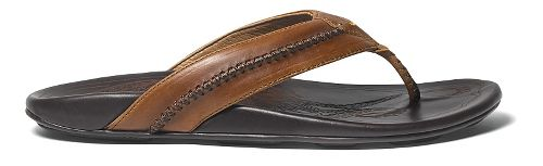 Mens OluKai Mea Ola Sandals Shoe - Tan/Dark Java 10