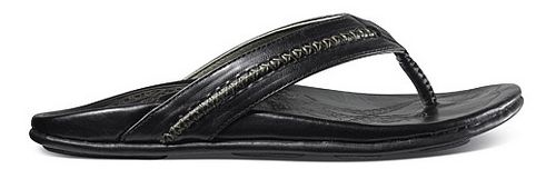 Mens OluKai Mea Ola Sandals Shoe - Black/Black 13