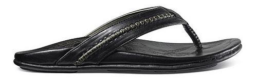 Mens OluKai Mea Ola Sandals Shoe - Black/Black 14