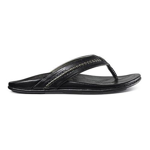 Mens OluKai Mea Ola Sandals Shoe - Black/Black 11