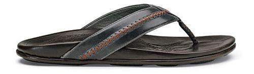 Mens OluKai Mea Ola Sandals Shoe - Charcoal/Dark Java 15