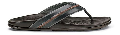 Mens OluKai Mea Ola Sandals Shoe - Charcoal/Dark Java 9