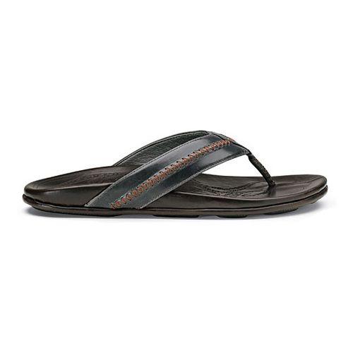 Mens OluKai Mea Ola Sandals Shoe - Charcoal/Dark Java 12