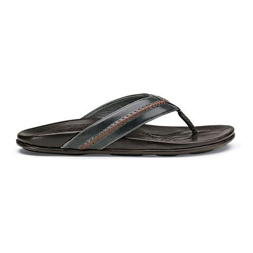 Mens OluKai Mea Ola Sandals Shoe - Charcoal/Dark Java 8