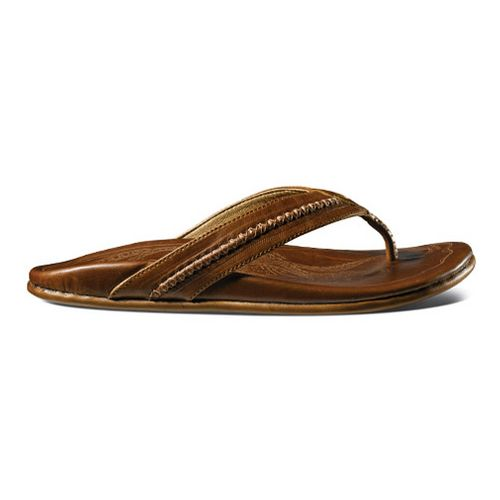Mens OluKai Mea Ola Sandals Shoe - Ginger/Ginger 12