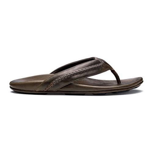 Mens OluKai Mea Ola Sandals Shoe - Seal Brown/Seal Brown 13