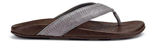Mens OluKai Hiapo Sandals Shoe - Grey/Seal Brown 11
