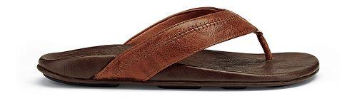 Mens OluKai Hiapo Sandals Shoe - Rum/Dark Java 8