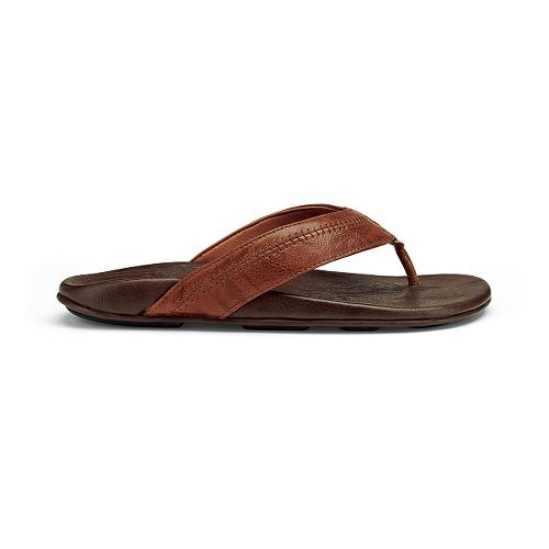 Mens OluKai Hiapo Sandals Shoe - Rum/Dark Java 12