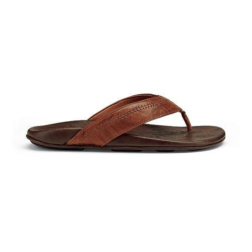 Mens OluKai Hiapo Sandals Shoe - Rum/Dark Java 7