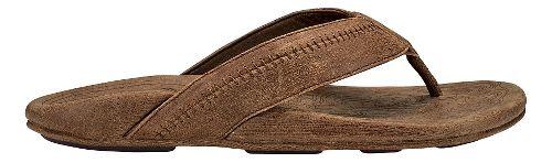 Mens OluKai Hiapo Sandals Shoe - Toffee/Toffee 14