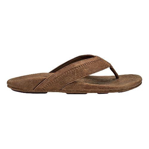Mens OluKai Hiapo Sandals Shoe - Toffee/Toffee 15