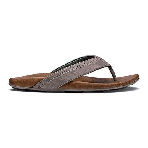 Mens OluKai Hiapo Sandals Shoe - Charcoal/Ginger 12