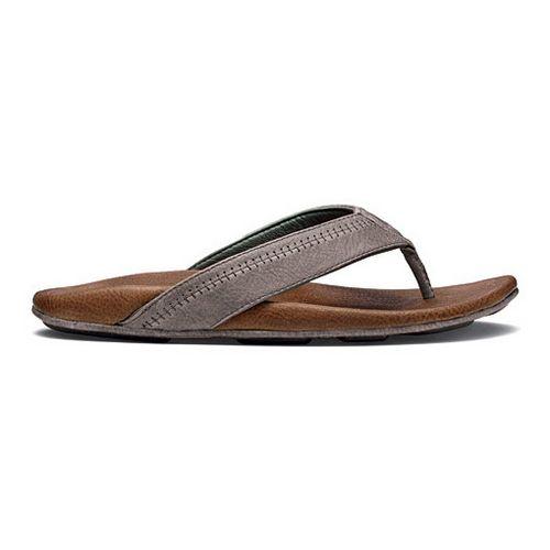 Mens OluKai Hiapo Sandals Shoe - Charcoal/Ginger 9