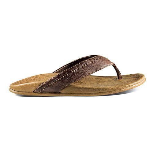 Mens OluKai Hiapo Sandals Shoe - Dark Java/Toffee 8