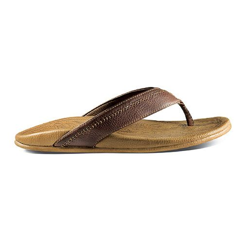 Mens OluKai Hiapo Sandals Shoe - Dark Java/Toffee 9