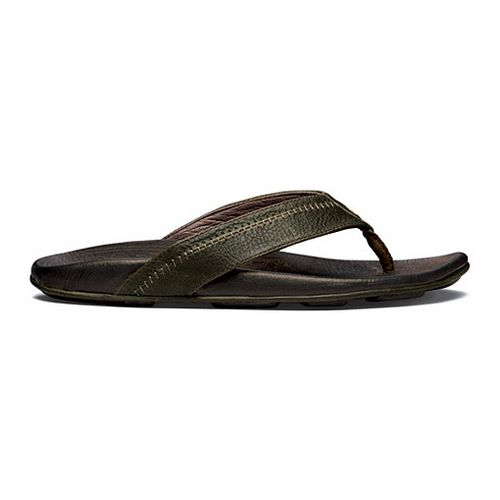 Mens OluKai Hiapo Sandals Shoe - Seal Brown/Black 15