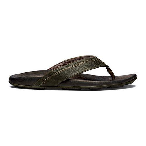 Mens OluKai Hiapo Sandals Shoe - Seal Brown/Black 15