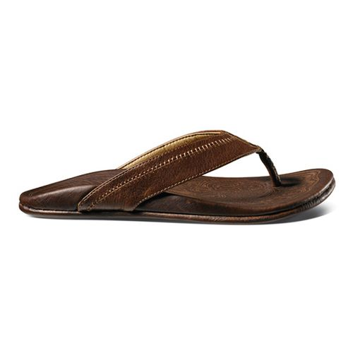 Mens OluKai Hiapo Sandals Shoe - Teak/Teak 10