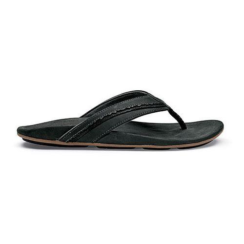 Mens OluKai Kakahi Sandals Shoe - Black/Black 12