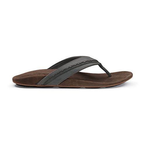 Mens OluKai Kakahi Sandals Shoe - Dark Shadow/Dark Java 10