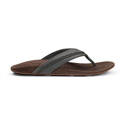 Mens OluKai Kakahi Sandals Shoe - Dark Shadow/Dark Java 14
