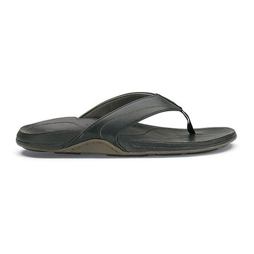 Mens OluKai Kumu Sandals Shoe - Black/Black 12
