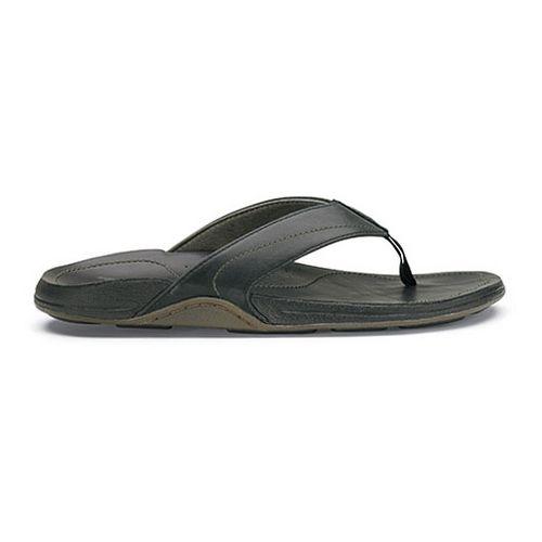 Mens OluKai Kumu Sandals Shoe - Black/Black 8