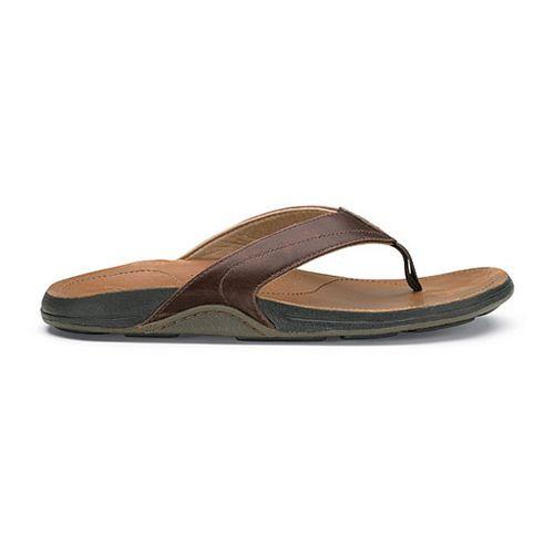 Mens OluKai Kumu Sandals Shoe - Java/Tan 7