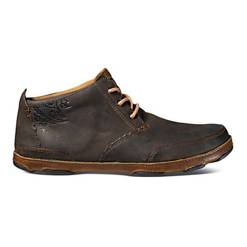 Mens OluKai Kamuela Casual Shoe - Dark Wood/Toffee 7