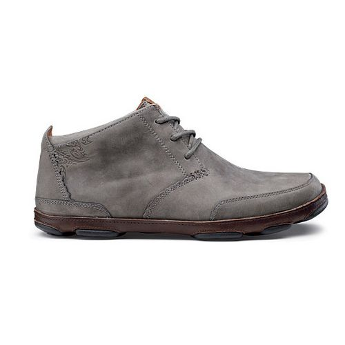 Mens OluKai Kamuela Casual Shoe - Storm Grey/Dark Wood 12
