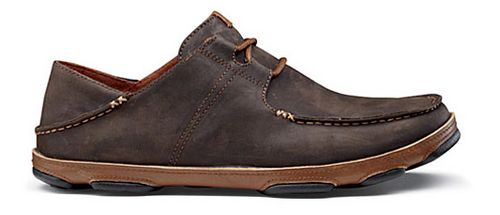 Mens OluKai Ohana Lace-Up Nubuck Casual Shoe - Dark Wood/Toffee 11.5