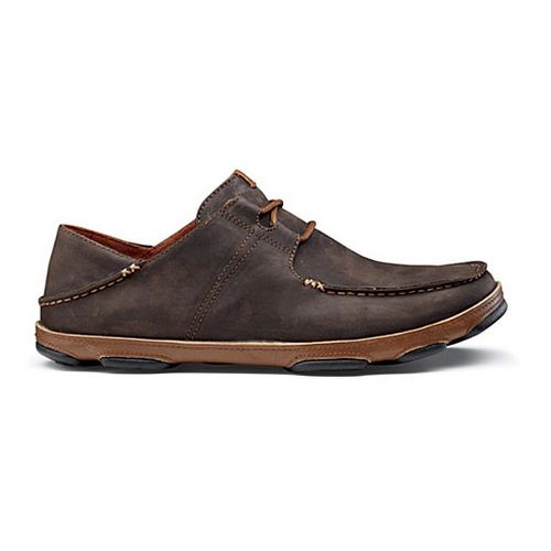 Mens OluKai Ohana Lace-Up Nubuck Casual Shoe - Dark Wood/Toffee 12